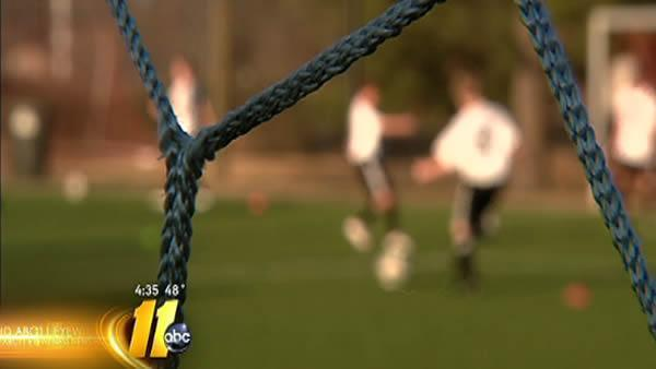 Soccer goals pose risk to children