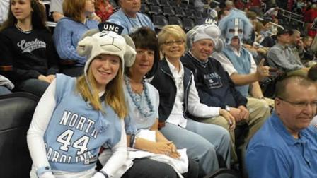 UNC fans show their colors in Atlanta Friday