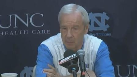 Roy Williams speaks with reporters
