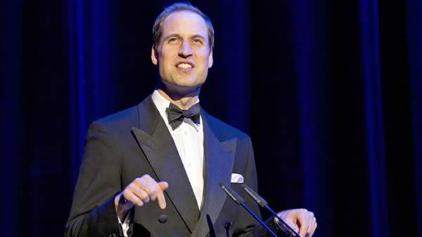 Prince William speaks at the Royal Albert Hall in London, Friday, May 11, 2012. (AP Photo/Alastair Grant)