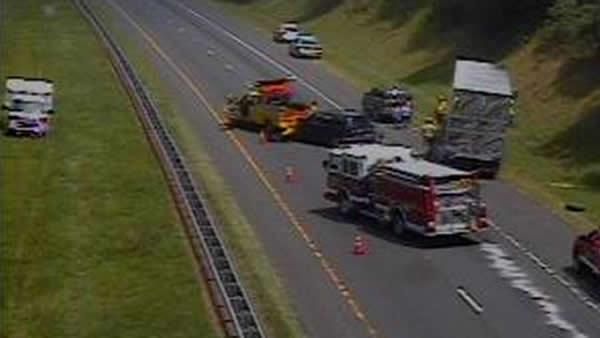 Accidents shutdown I-85 near Hillsborough and Durham