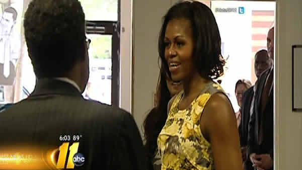 Michelle Obama attends Raleigh fundraiser