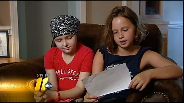 Birthday girl supports friend battling cancer