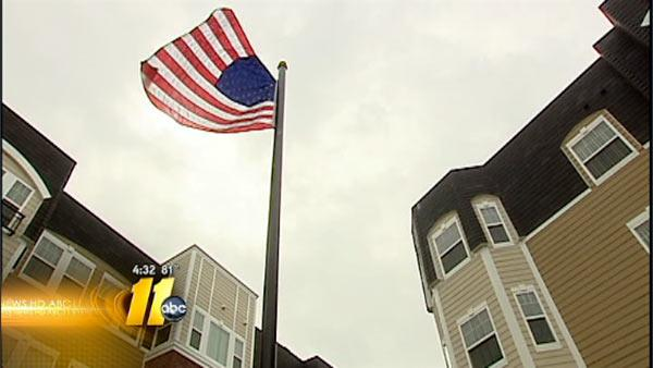 Morrisville assisted living home erects flagpole