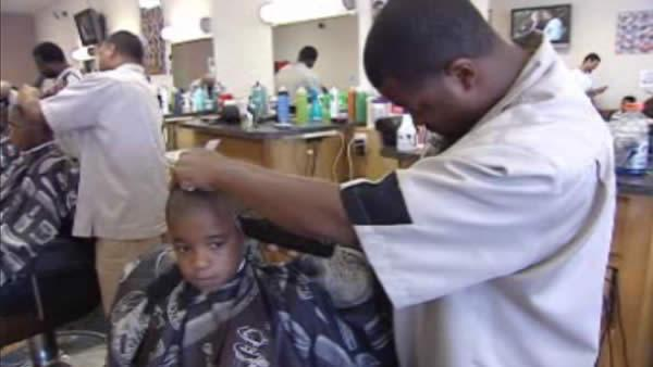 Barbershop helps kids get ready for school
