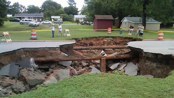 Sinkhole in Roanoke Rapids