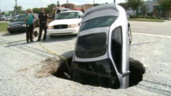 A sinkhole formed Tuesday afternoon near the Bojangles in the 3500 block of Hillsborough Road.