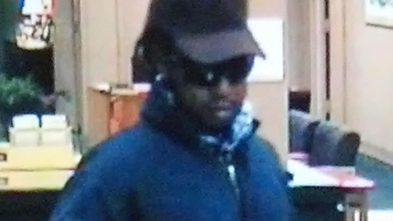 Police say this man held up a Raleigh bank Monday.