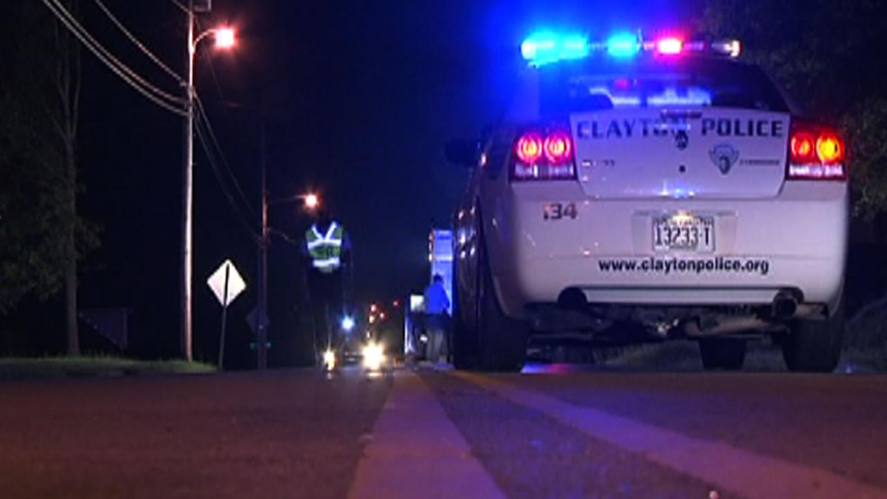 Clayton police investigate a pedestrian accident.