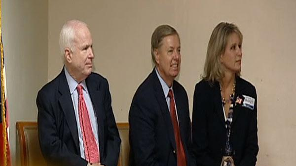 McCain, Graham speak to veterans in Sandhills