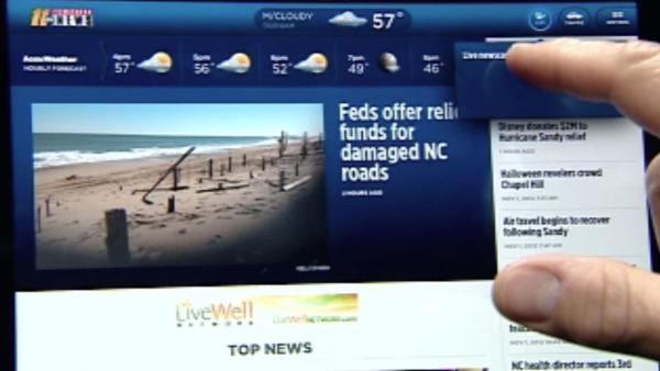 Watch ABC11 live on iPad and iPhone apps
