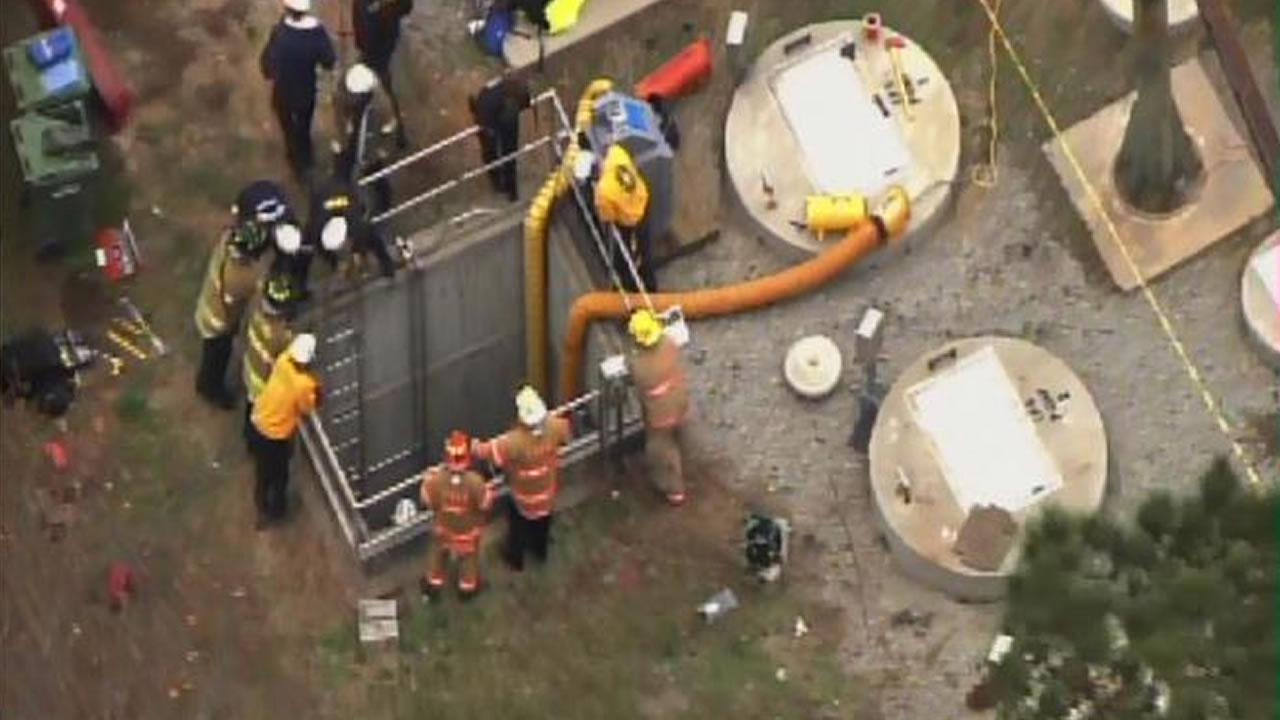 Man injured after being trapped underground