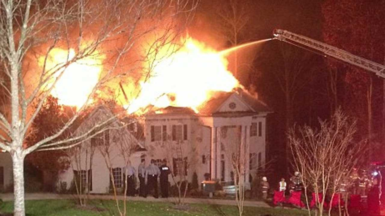 Fire rips through million dollar home