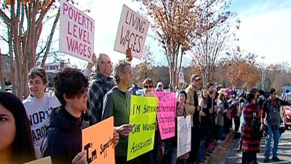 Protests greet shoppers at Walmarts