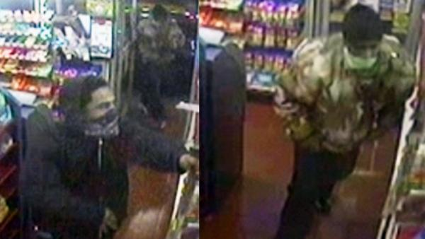Suspects wanted in robbery, shooting