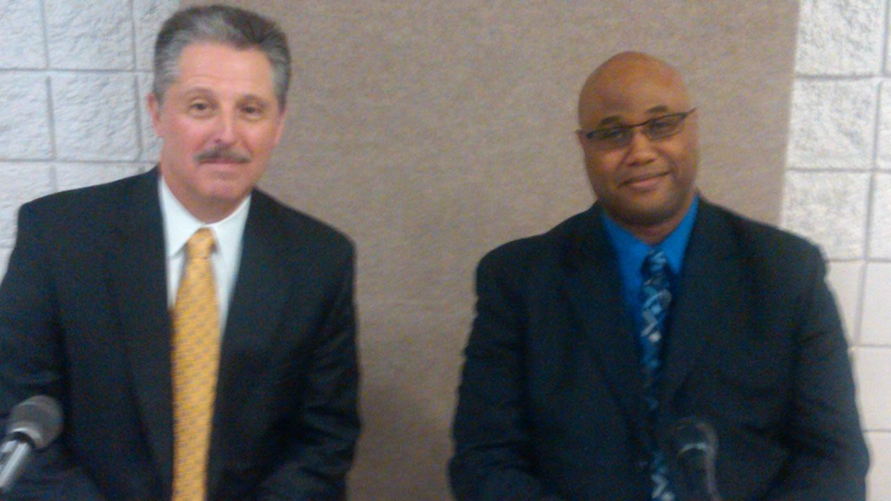 Harold Medlock, deputy chief of Charlotte-Mecklenburg,  and Malik Aziz, deputy chief in Dallas Texas.