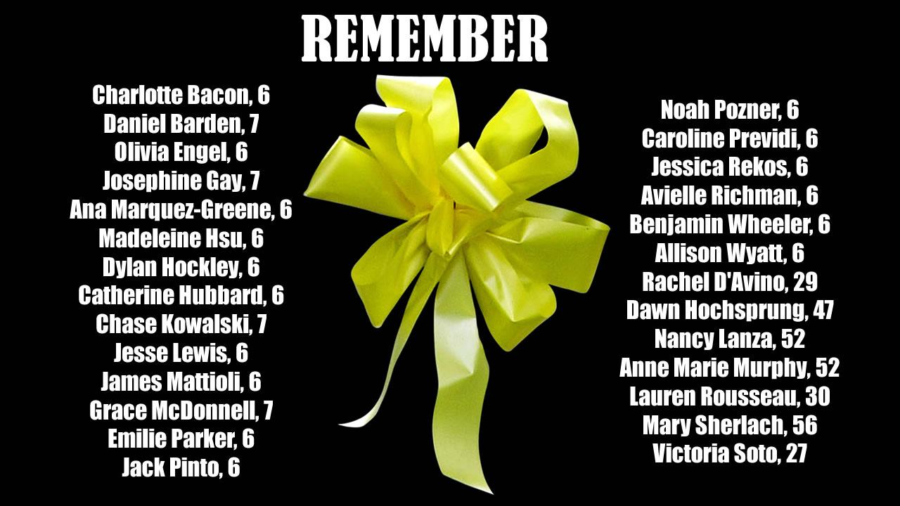 Sandy Hook School Shooting Victim List Remember