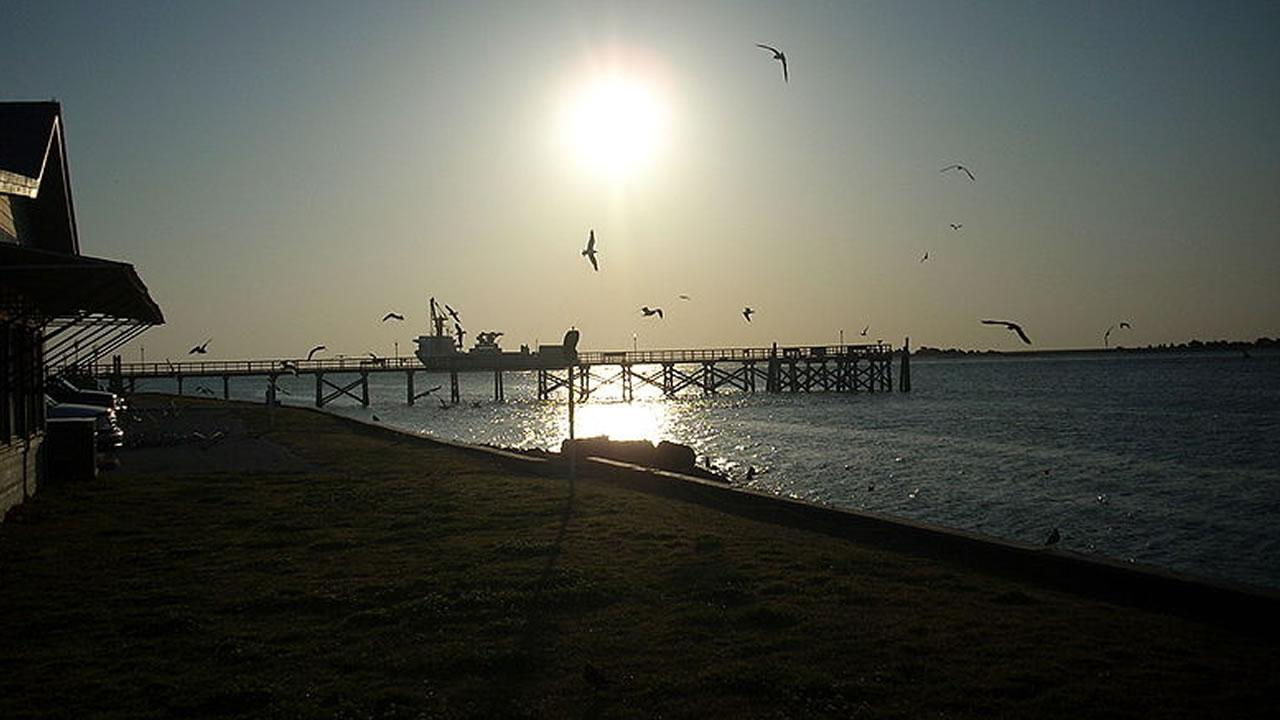 Cargo Ship near the mouth of the Cape Fear River