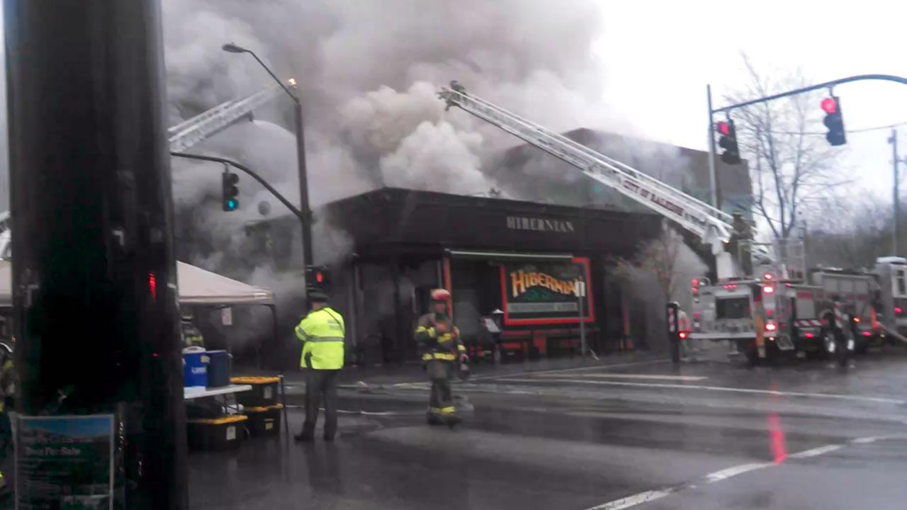 Hibernian Pub fire