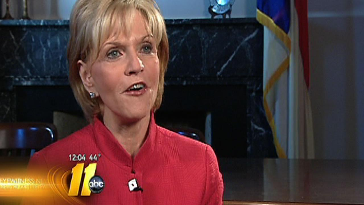 Governor Beverly Perdue speaks with ABC11s Jon Camp