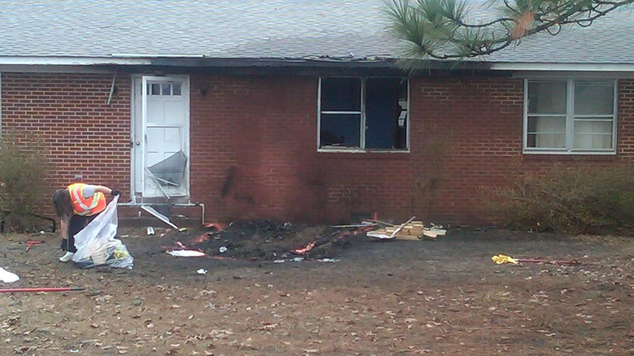 Four died in a crash in the front yard of this home.