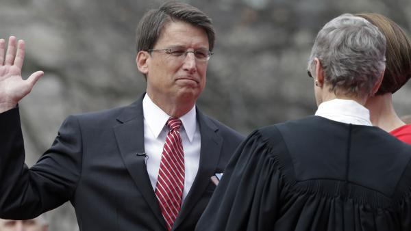 McCrory takes oath, lays out his plan