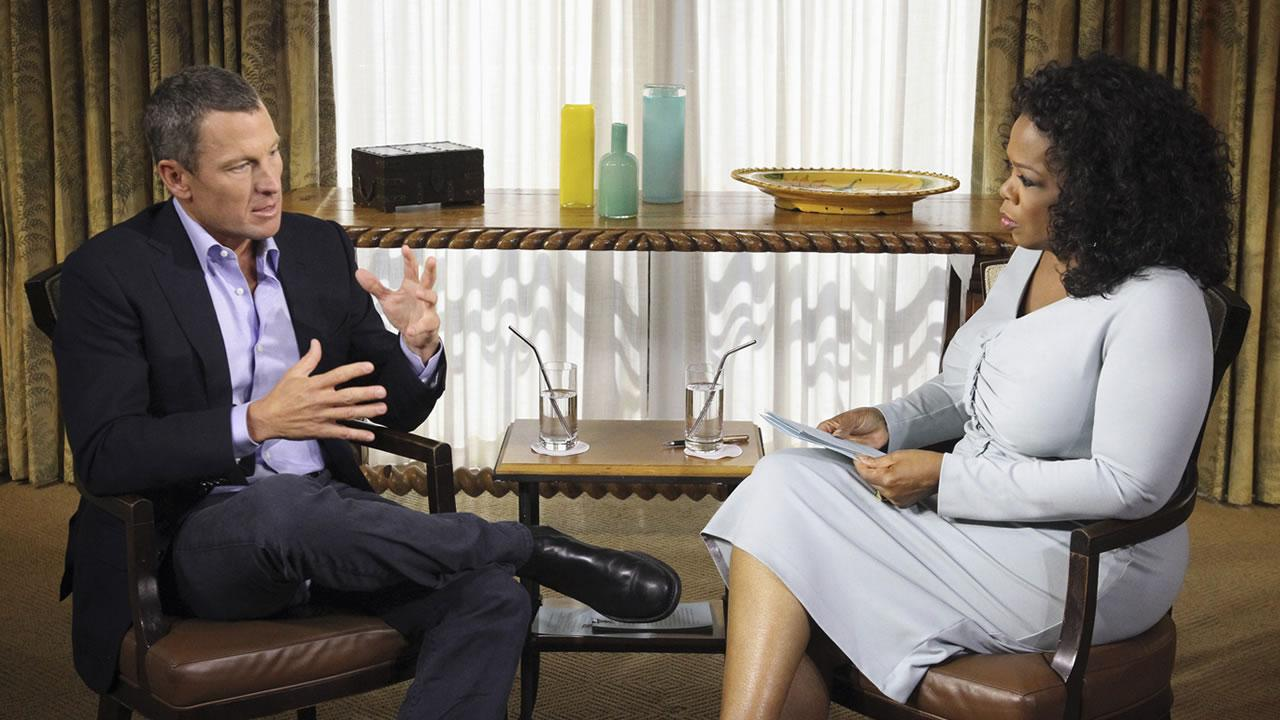In this photo provided by Harpo Studios Inc., talk show host Oprah Winfrey, right, interviews Lance Armstrong during taping for the show Oprah and Lance Armstrong: The Worldwide Exclusive in Austin, Texas.Courtesy of Harpo Studios, Inc., George Burns