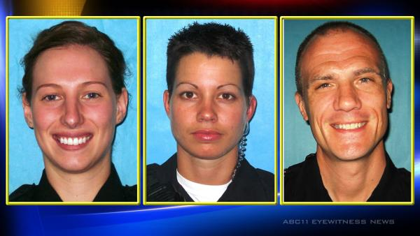 Three Durham police officers arrested