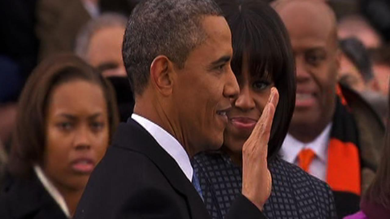 President Obama takes the oath of office Monday, Jan. 21.