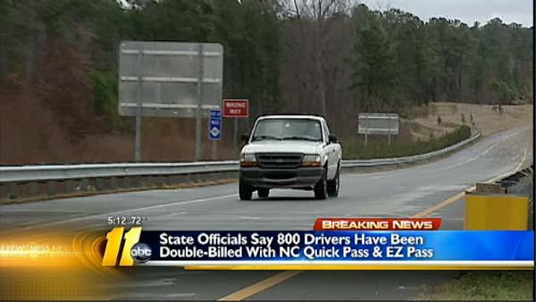 Officials: Drivers double billed for toll road