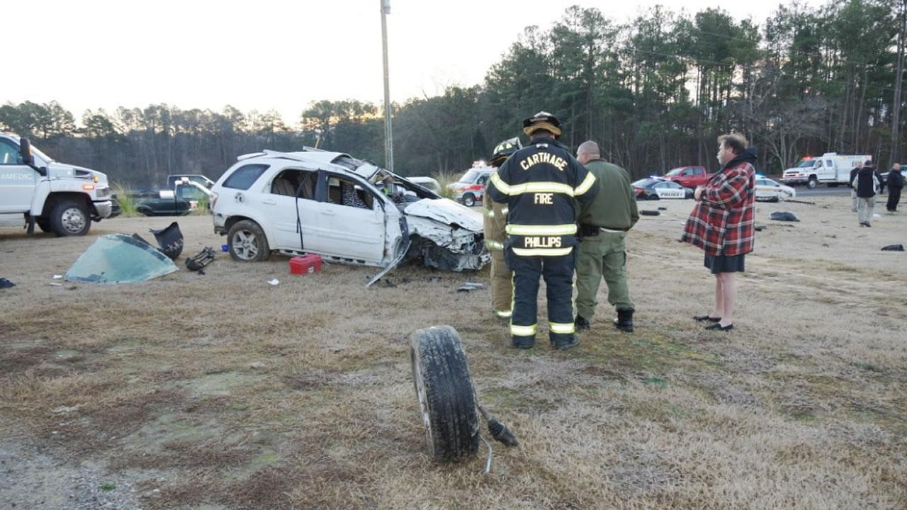 Moore County crash <span class=meta>(Image courtesy Frank Staples)</span>