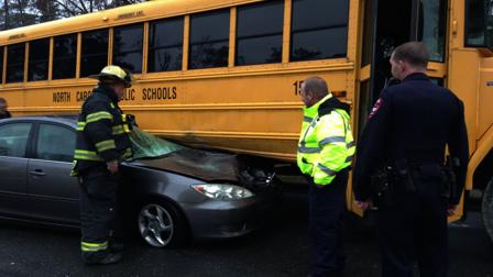 A school bus crash in Johnston County.