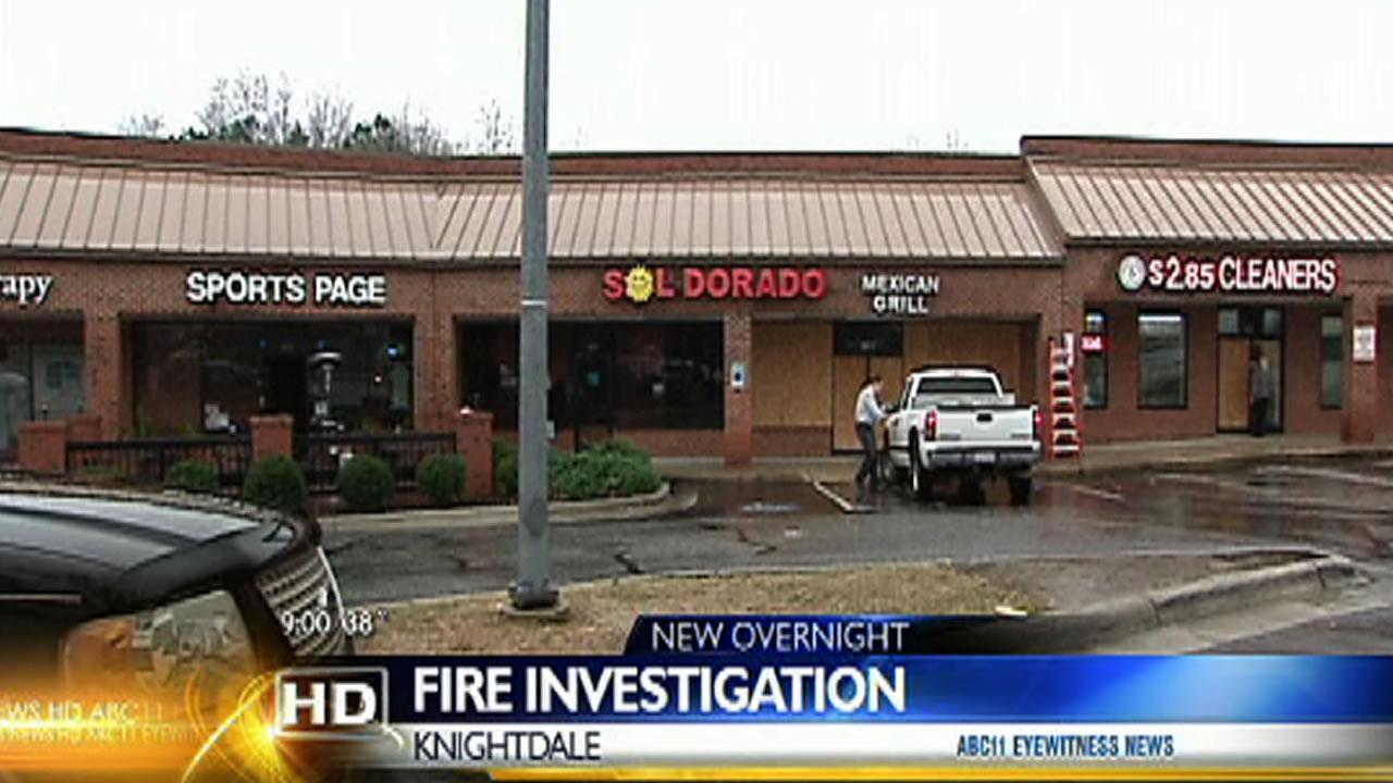 Sol Dorado Mexican restaurant fire Knightdale
