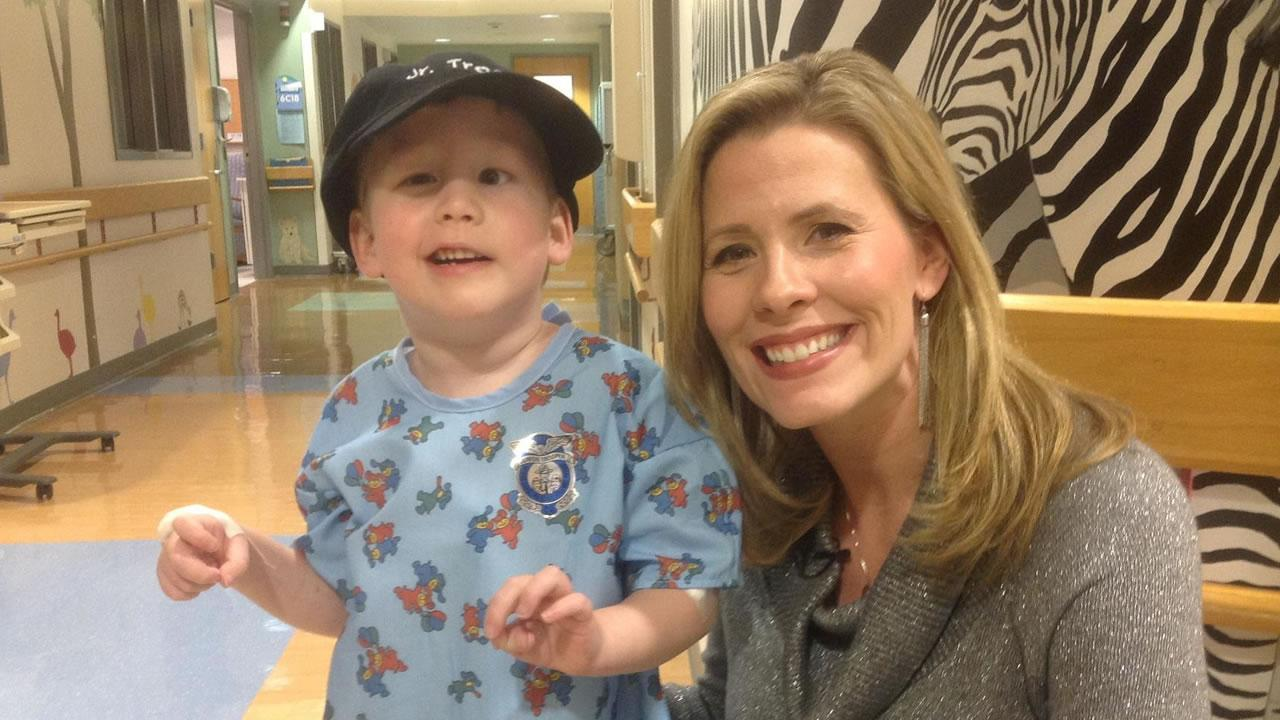 ABC11s Caitlin Knute with 4-year-old Caelon Arthur.