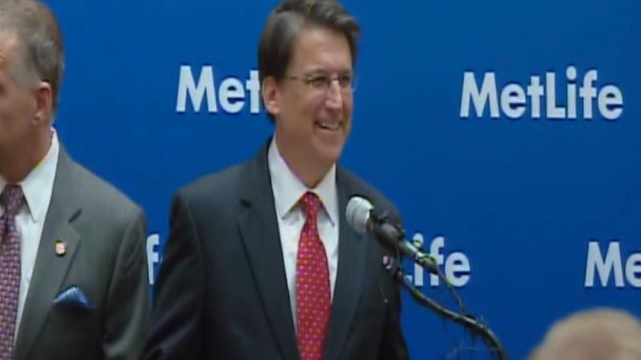Governor Pat McCrory makes a major jobs announcement