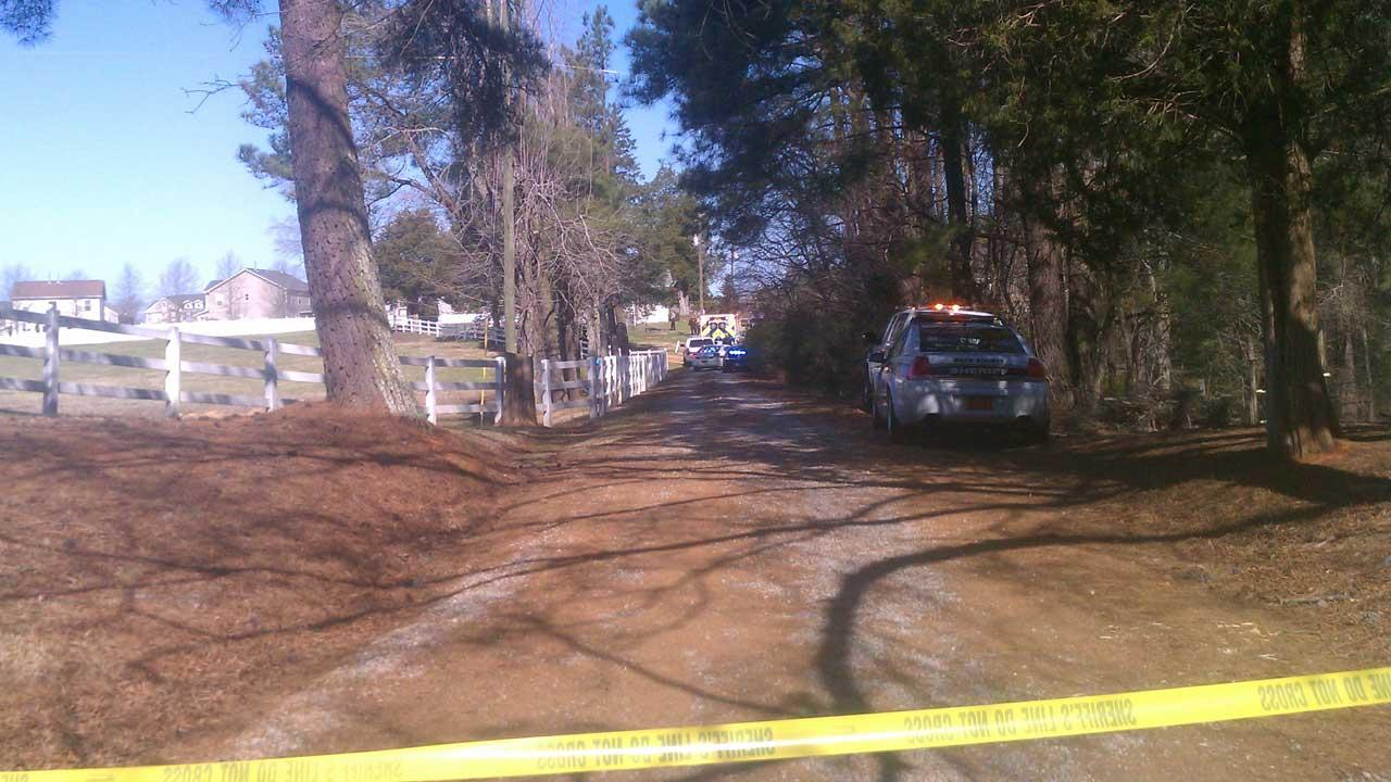 Deputies on scene of incident at Old Stage Road and Field Stream Farm Road in Wake County. <span class=meta>(Courtesy of Annick Joseph)</span>