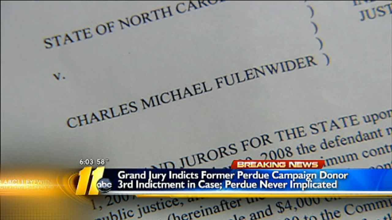 Another Perdue campaign donor indicted