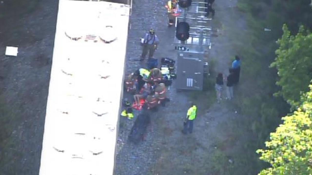 Girl falls near railroad tracks in Cary