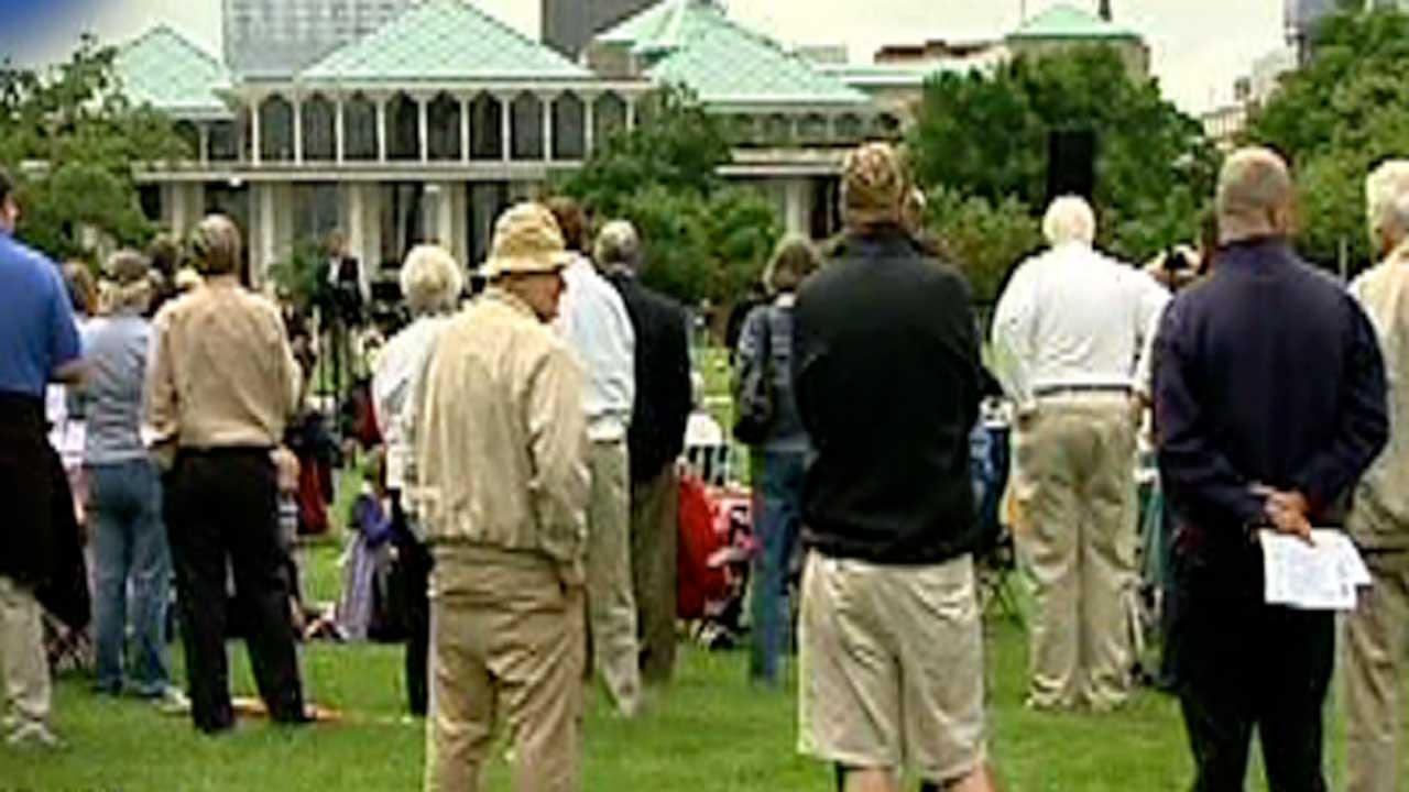 Dozens gather for National Day of Prayer