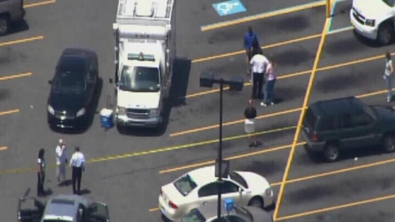 Police investigate outside a Walmart in Greenville, NC.