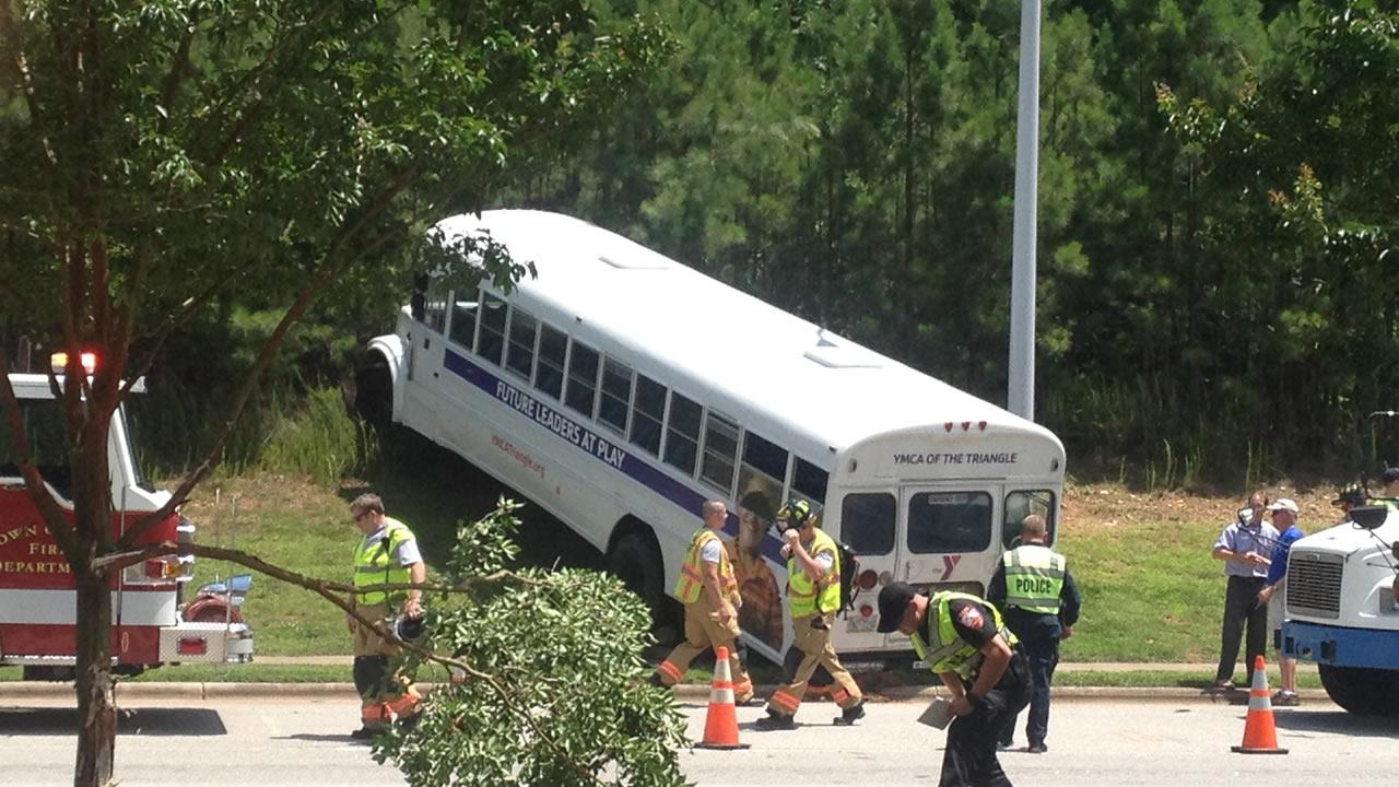 A YMCA bus was involved in an accident Wednesday afternoon at NW Cary Parkway and Evans Road.