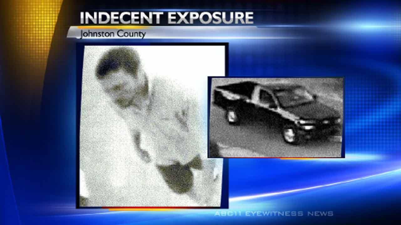 Authories seek alleged flasher in Johnston County