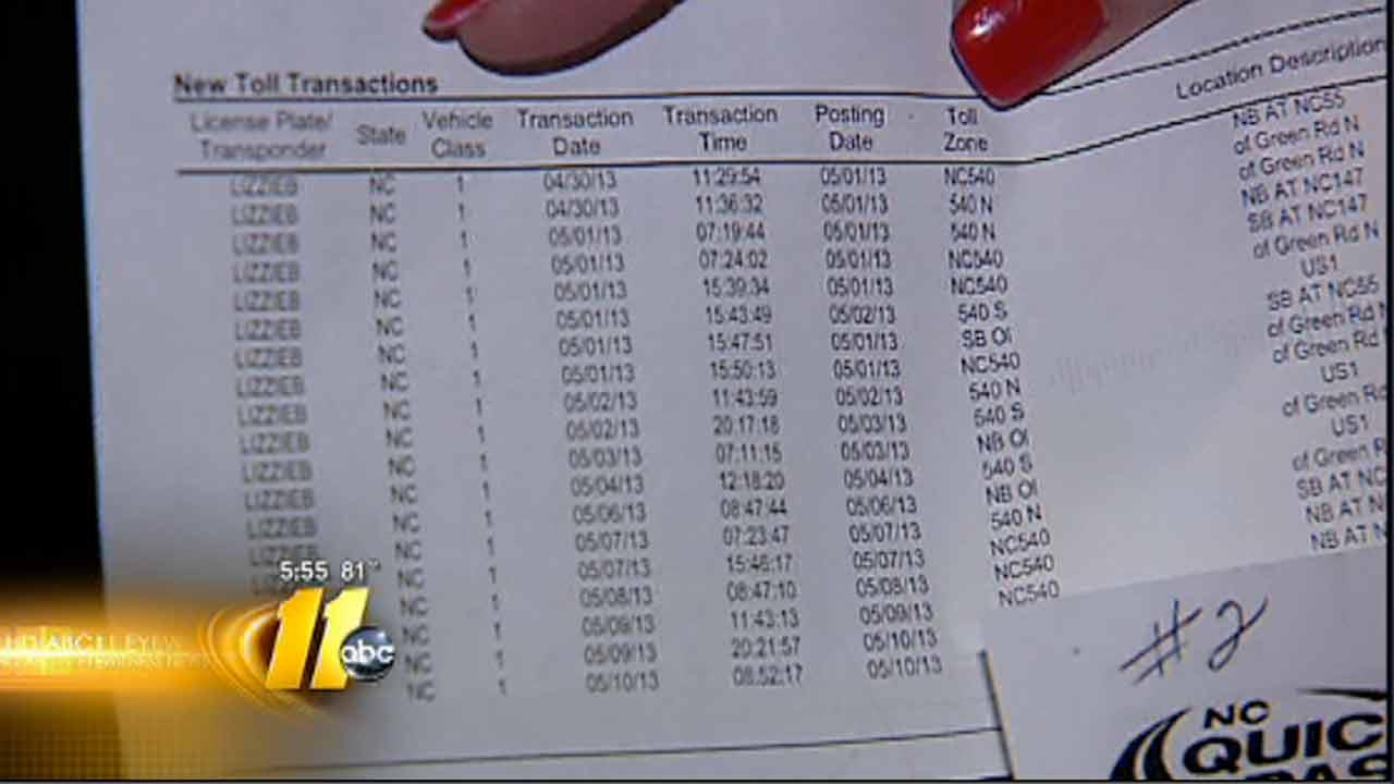 Woman at wit's end over toll bills in error