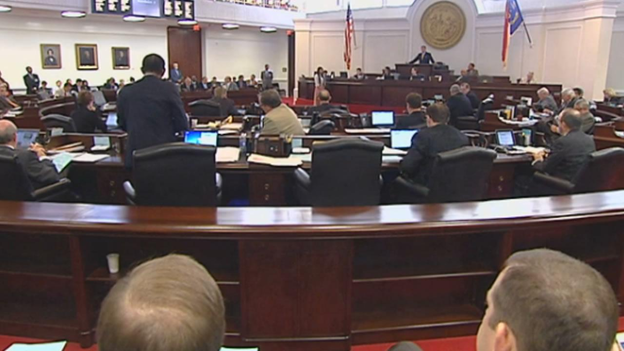 The North Carolina Senate debates an abortion bill.