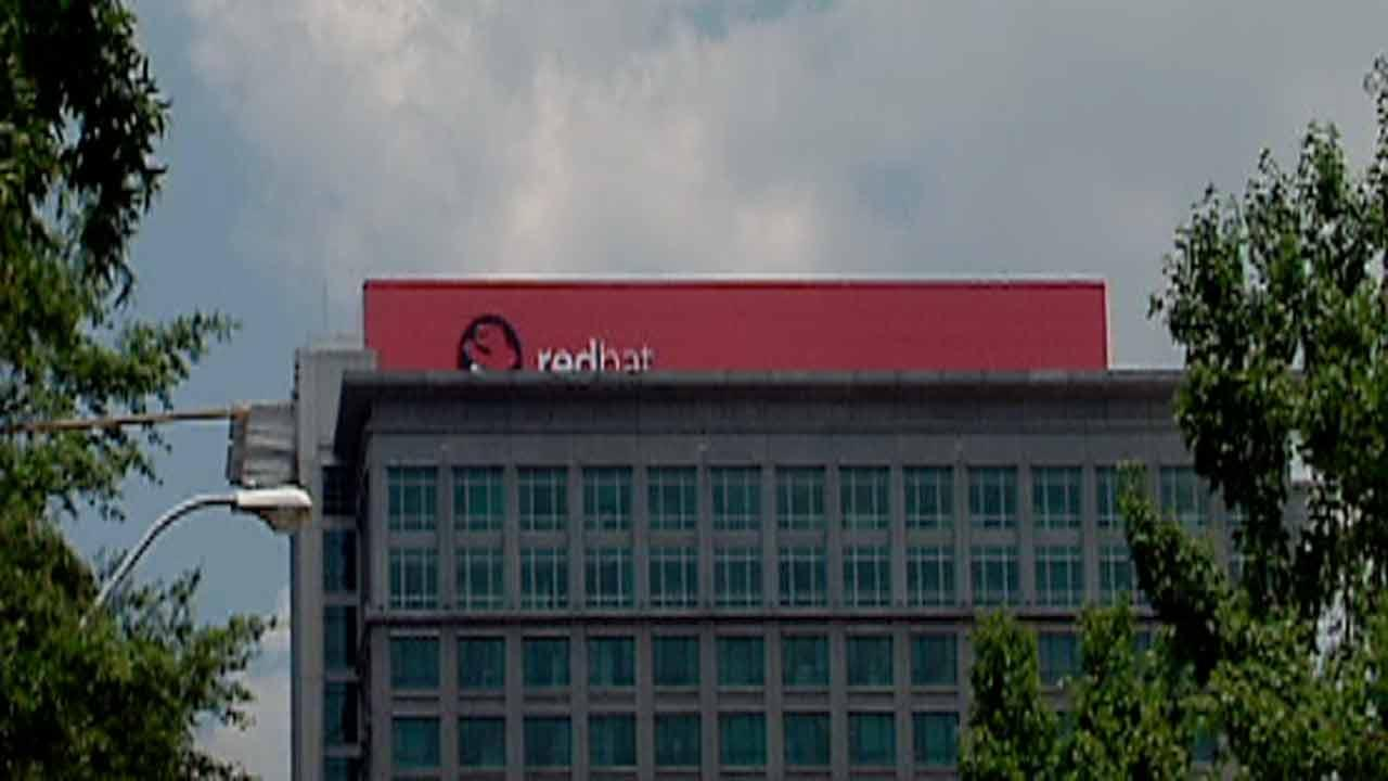 Red Hat building's top has some seeing red