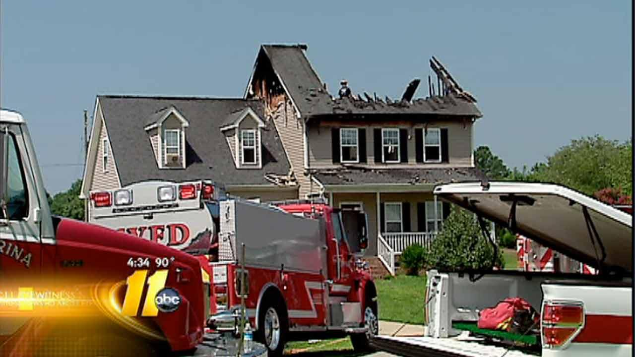 Wake County home damaged by fire