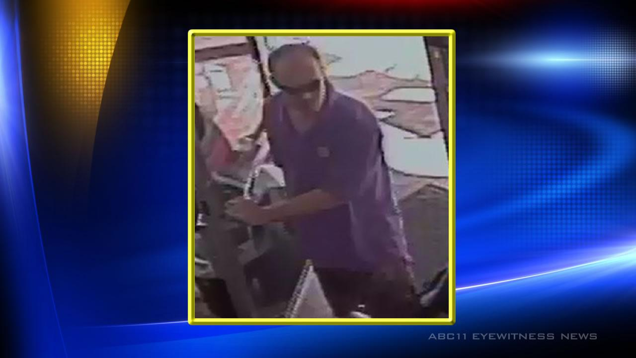 Photo of Cary theft suspect who hit a Walgreens and Exxon store on Friday, July 26.