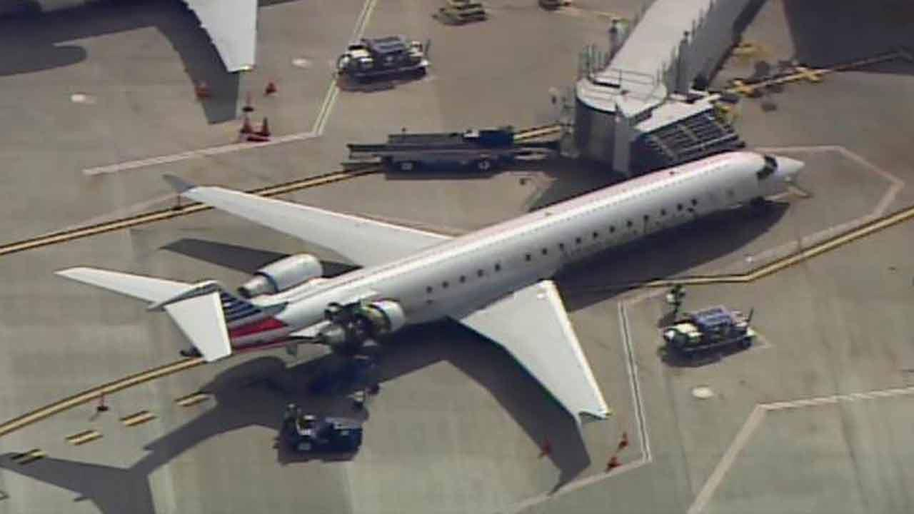 An American Eagle plane made an unscheduled stop at RDU.