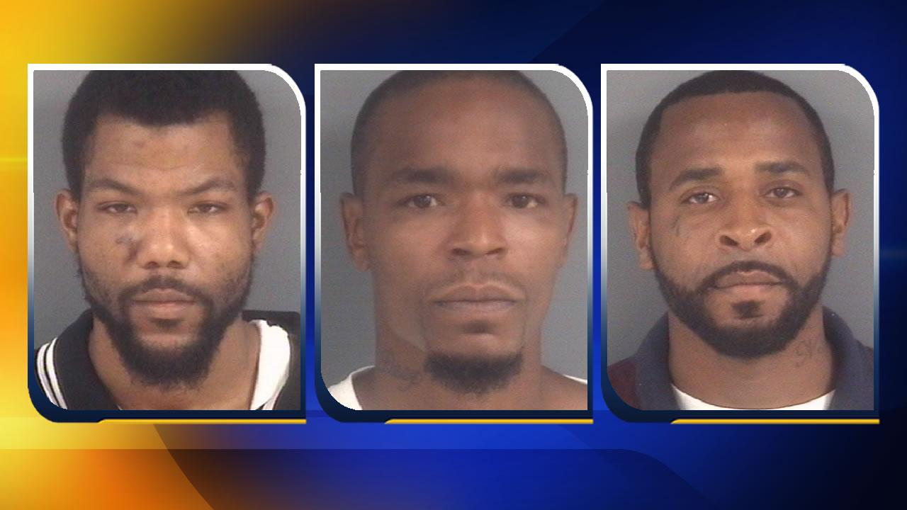 Kelly Eugene Elliott, Anthony Porter, and Eric Lamont Phillips.Images courtesy Fayetteville Police Department