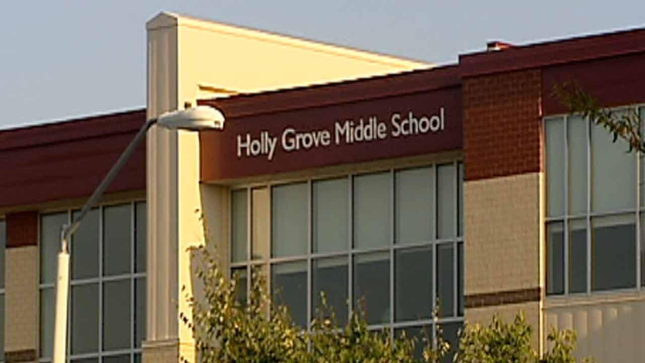Holly Grove Middle School in Holly Springs.